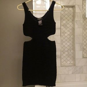 Black cut out bebe dress